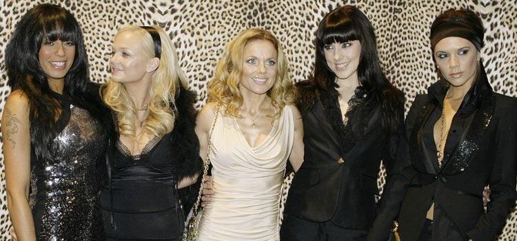 Las 'Spice Girls' durante la Semana de la moda de Milán, 2008