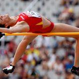 Ruth Beitia compite en los Juegos Olímpicos de Londres 2012