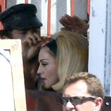 Madonna en el rodaje de su videoclip 'Turn up the radio'