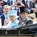 La Reina Isabel y el Duque de Edimburgo en la inauguración de Ascot 2012