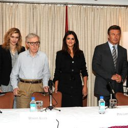 Penélope Cruz, Woody Allen y Alec Baldwin promocionan 'To Rome with love' en Nueva York