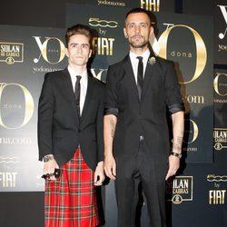 David Delfín y Pelayo Díaz en los Premios Internacionales Yo Dona 2012