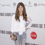 Nerea Camacho posando en el preestreno de 'Tengo ganas de ti' en Madrid