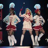 Madonna en una imagen de su paso por Barcelona durante su gira 2012