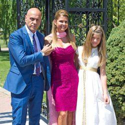 Kiko Matamoros y Makoke en la boda de Tamara Gorro y Ezequiel Garay