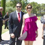 Chayo Mohedano y Andrés Fernández en la boda de Tamara Gorro y Ezequiel Garay
