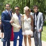Luis Rollán y Marta López en la boda de Tamara Gorro y Ezequiel Garay