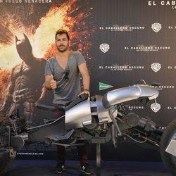 David Seijo en la presentación de la moto de Batman en Madrid