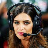 Sara Carbonero en el Portugal - España de la Eurocopa 2012