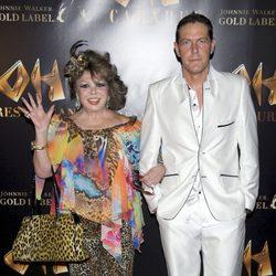 Marujita Díaz y Óscar Lozano en la inauguración de Oh Cabaret