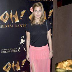 Natalia Sánchez en la inauguración de Oh Cabaret