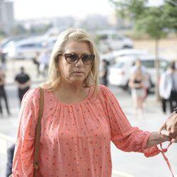 Mayte Zaldívar en la primera sesión del juicio por el caso Malaya