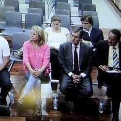 Julián Muñoz y Mayte Zaldívar en la primera sesión por el caso Malaya