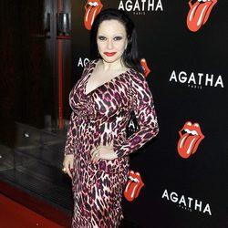 Alaska en la fiesta de Ágatha con motivo del 50 aniversario de los Rolling Stones