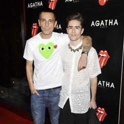 David Delfín y Pelayo Díaz en la fiesta de Ágatha con motivo del 50 aniversario de los Rolling Stones