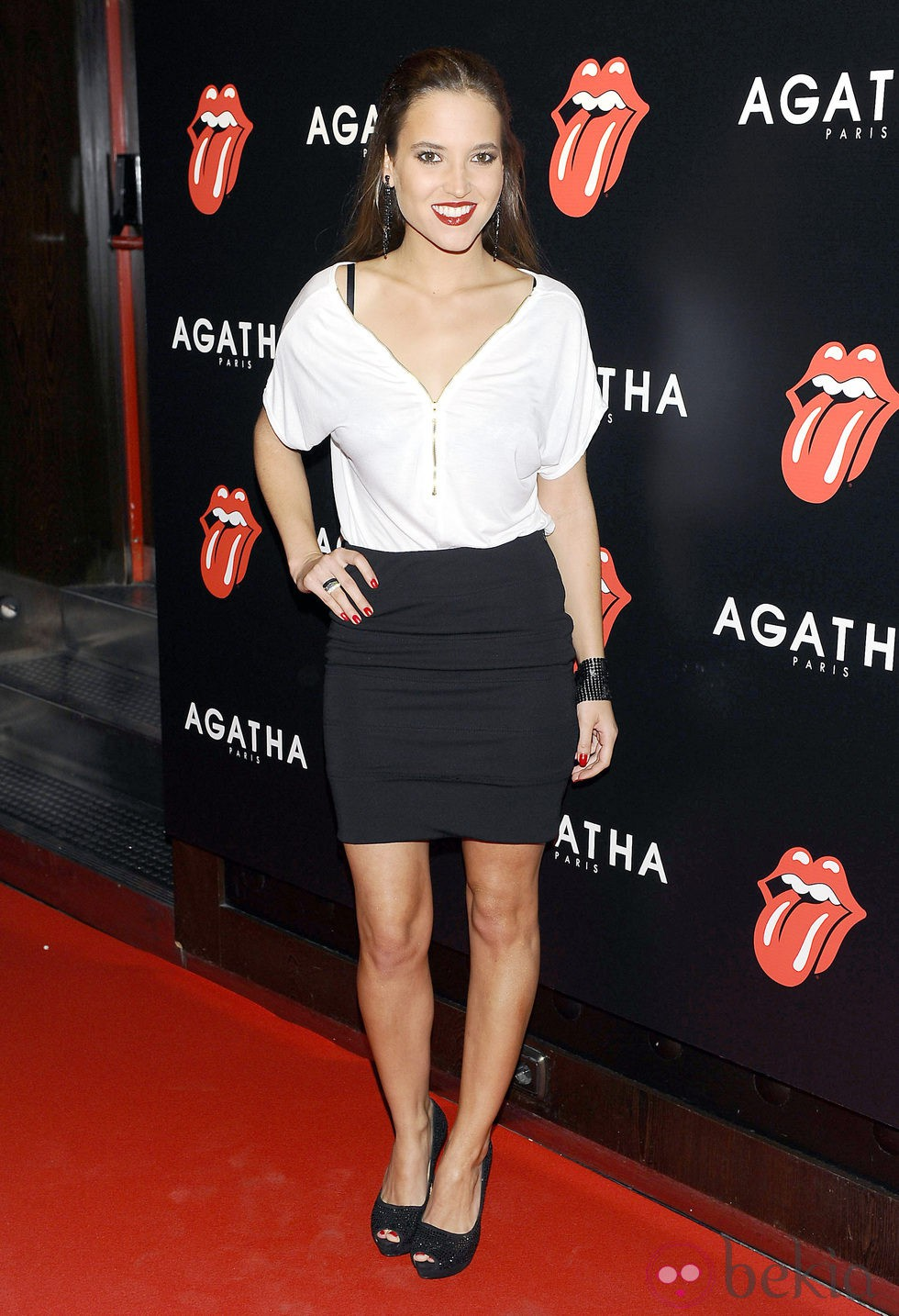 Ana Fernández en la fiesta de Ágatha con motivo del 50 aniversario de los Rolling Stones