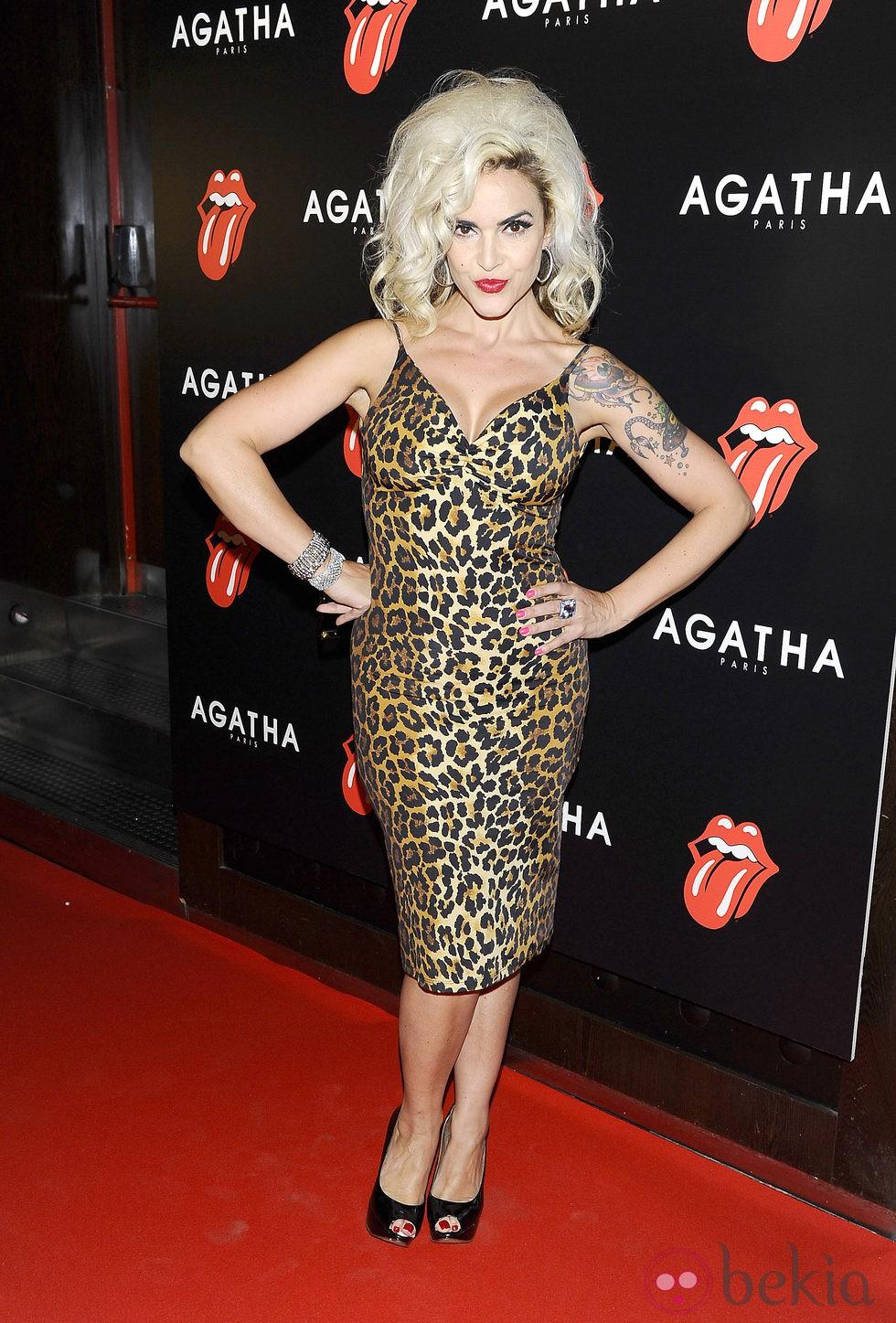 Silvia Superstar en la fiesta de Ágatha con motivo del 50 aniversario de los Rolling Stones