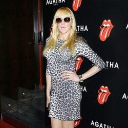 Topacio en la fiesta de Ágatha con motivo del 50 aniversario de los Rolling Stones