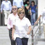 Chelo García Cortés en la apertura del juicio por el caso Malaya