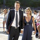Óscar Martínez y Eva Armenteros en la boda de Carlos Baute