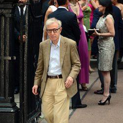 Woody Allen en la boda de Alec Baldwin