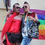 Un hombre travestido en el Orgullo Gay de Madrid