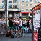 Kiosko en Gran Vía durante el Orgullo Gay de Madrid