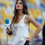 Sara Carbonero en la final de la Eurocopa 2012