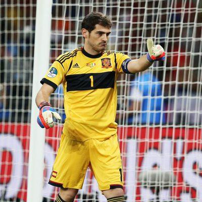 Iker Casillas en la final de la Eurocopa 2012