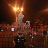 Cibeles, vallada para la celebración de la victoria de España en la Eurocopa 2012