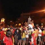 Celebración en Cibeles de la victoria de España en la Eurocopa 2012