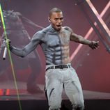 Chris Brown en la gala de los Bet Awards 2012