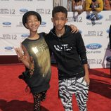 Jaden Smith y Willow Smith en los Bet Awards 2012