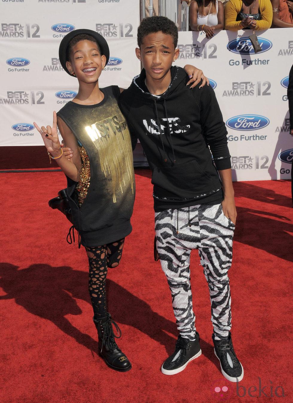 Jaden Smith y Willow Smith en los Bet Awards 2012
