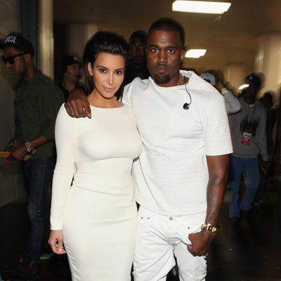 Kim Kardashian y Kanye West en los Bet Awards 2012