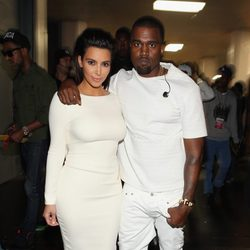 Kim Kardashian y Kanye West en los Bet Awards 2012