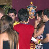 Iker Casillas y Sara Carbonero en la cena de celebración de la Eurocopa 2012