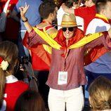 María Zurita, fotografiada por la Infanta Elena en la celebración del triunfo de 'La Roja' en la Eurocopa 2012