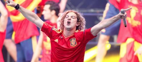David Bisbal en el concierto celebrado por el triunfo de España en Cibeles