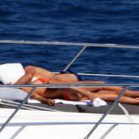 Cristiano Ronaldo e Irina Shayk muy cariñosos en Saint-Tropez