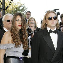 Andrea Casiraghi y Tatiana Santo Domingo en Cannes