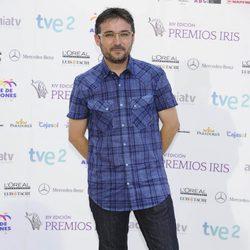 Jordi Évole en la entrega de los Premios Iris 2012