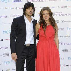 David Janer y Miryam Gallego en la entrega de los Premios Iris 2012