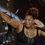 Queen Latifah en un concierto con motivo del Día de la Independencia