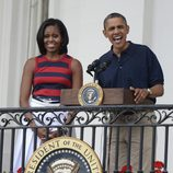 Michelle y Barack Obama el Día de la Independencia