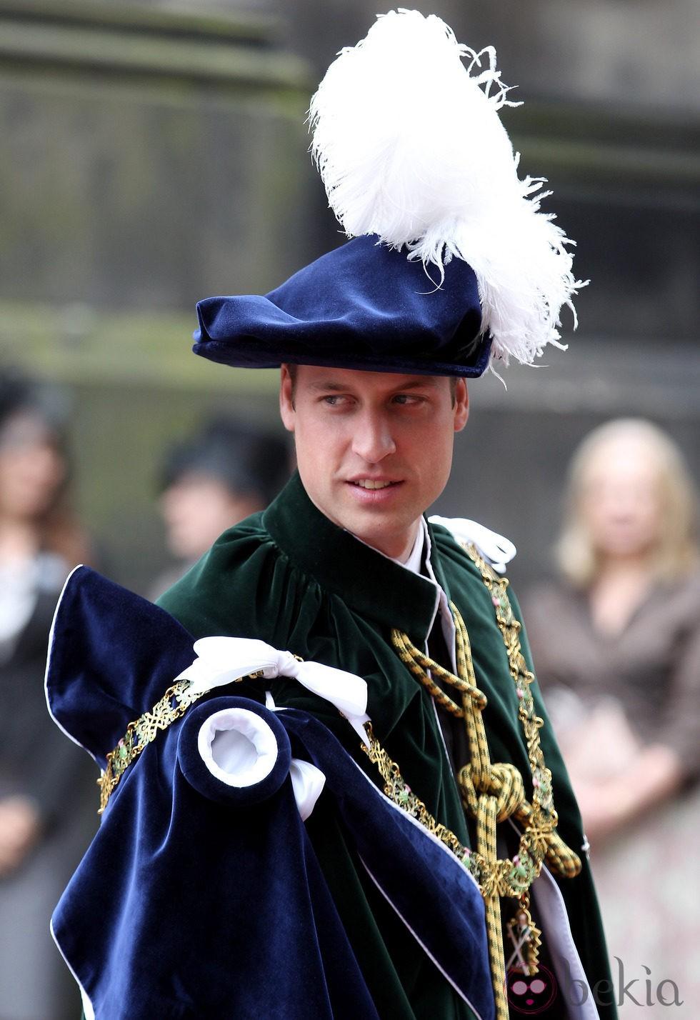 El Príncipe Guillermo en su nombramiento como Caballero de la Orden del Cardo