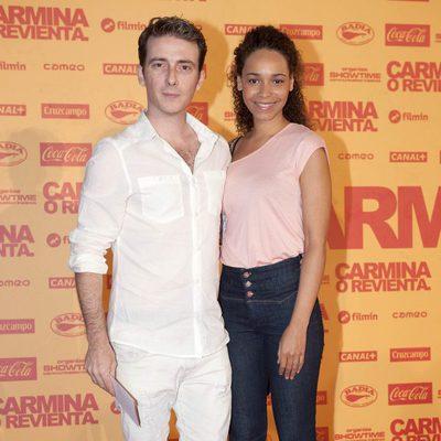 Víctor Clavijo en el estreno de 'Carmina o revienta'