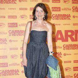 María Pujalte en el estreno de 'Carmina o revienta'