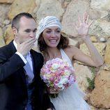 Andrés Iniesta y Anna Ortiz el día de su boda