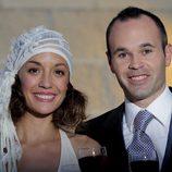 Andrés Iniesta y Anna Ortiz, muy sonrientes en su boda